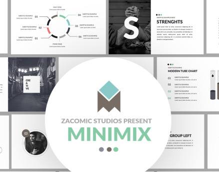Minimix Powerpoint Presentation PowerPoint Template