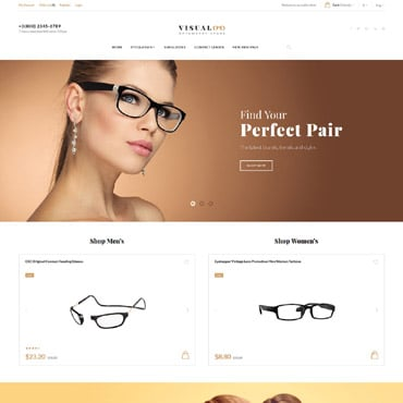 Optometry Store Opencart Template 64772