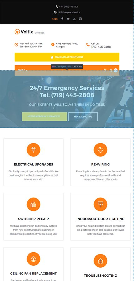 electrical website templates