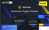 Bitunet - Kripto Para Birimi Elementor WordPress Teması