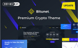 Bitunet - Kriptovaluta Elementor WordPress téma