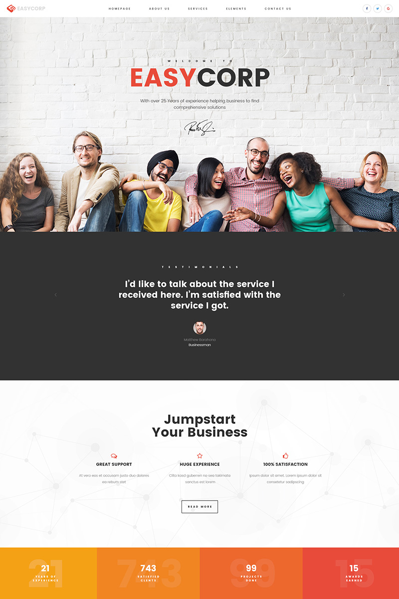 Business & Services Website Template - screenshot