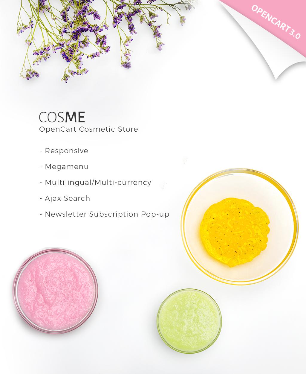 Cosmetics Store Responsive OpenCart Template - screenshot