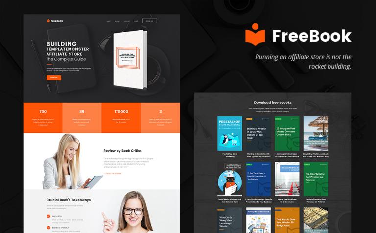 FreeBook - Um Landing Page Grátis para WordPress Template WordPress ...