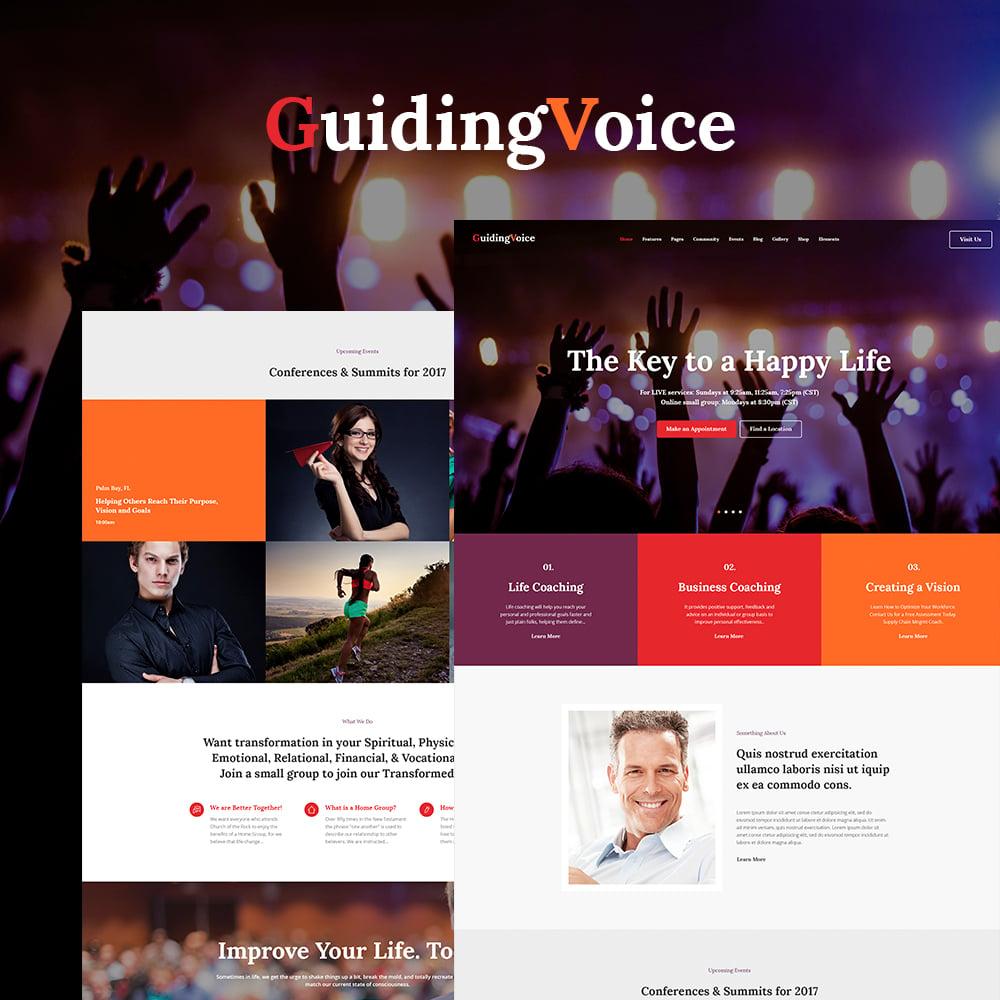 """Guiding Voice - Life Coach WordPress Theme"" 响应式WordPress模板 #64747"