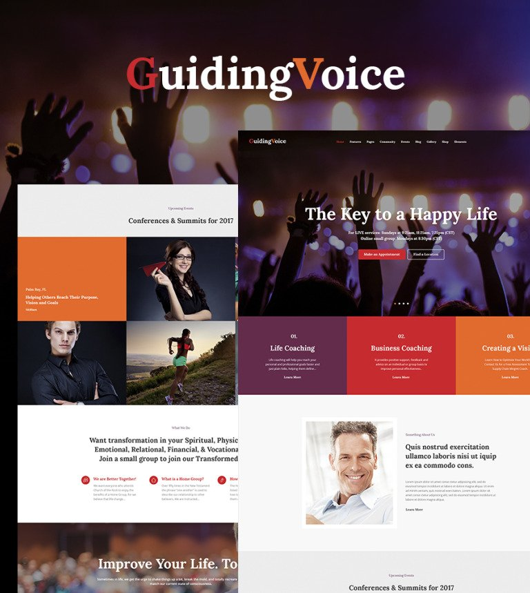 Guiding Voice - Life Coach WordPress Theme