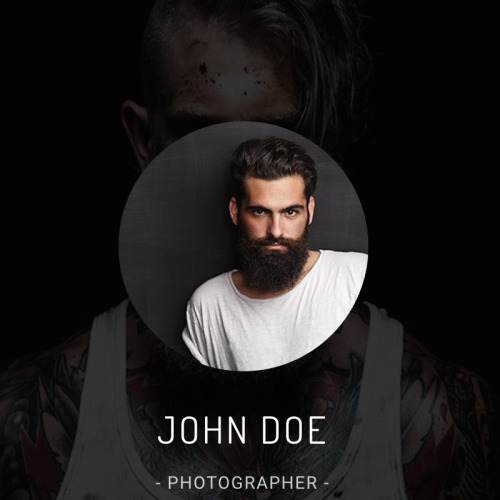 John Doe - Photography Landing Page Template