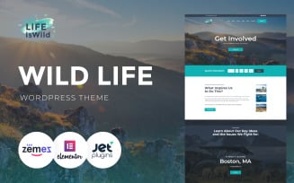LifeisWild - Wild Life WordPress Theme