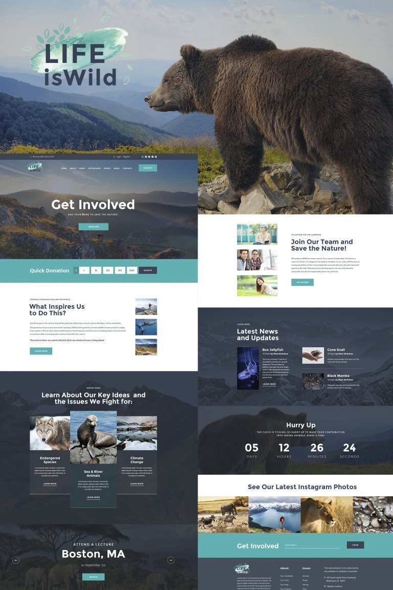 LifeisWild - Wild Life WordPress Theme New Screenshots BIG