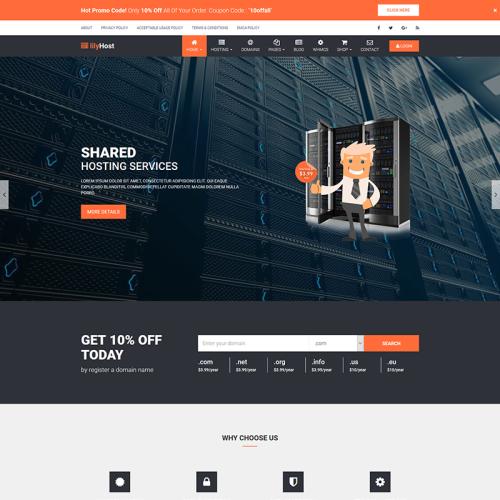 lilyHost - WordPress Template