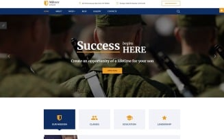 Military School Responsive Joomla Template
