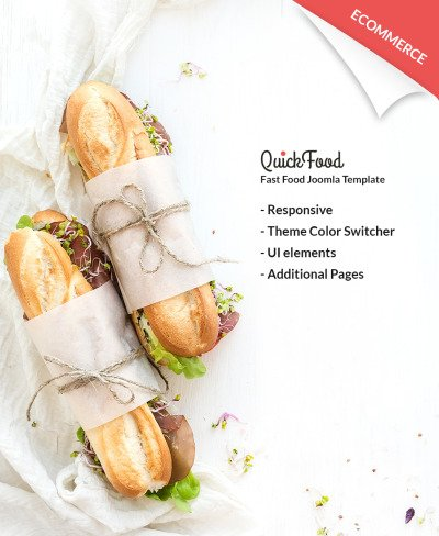Fast Food Restaurant Responsive Tema Joomla