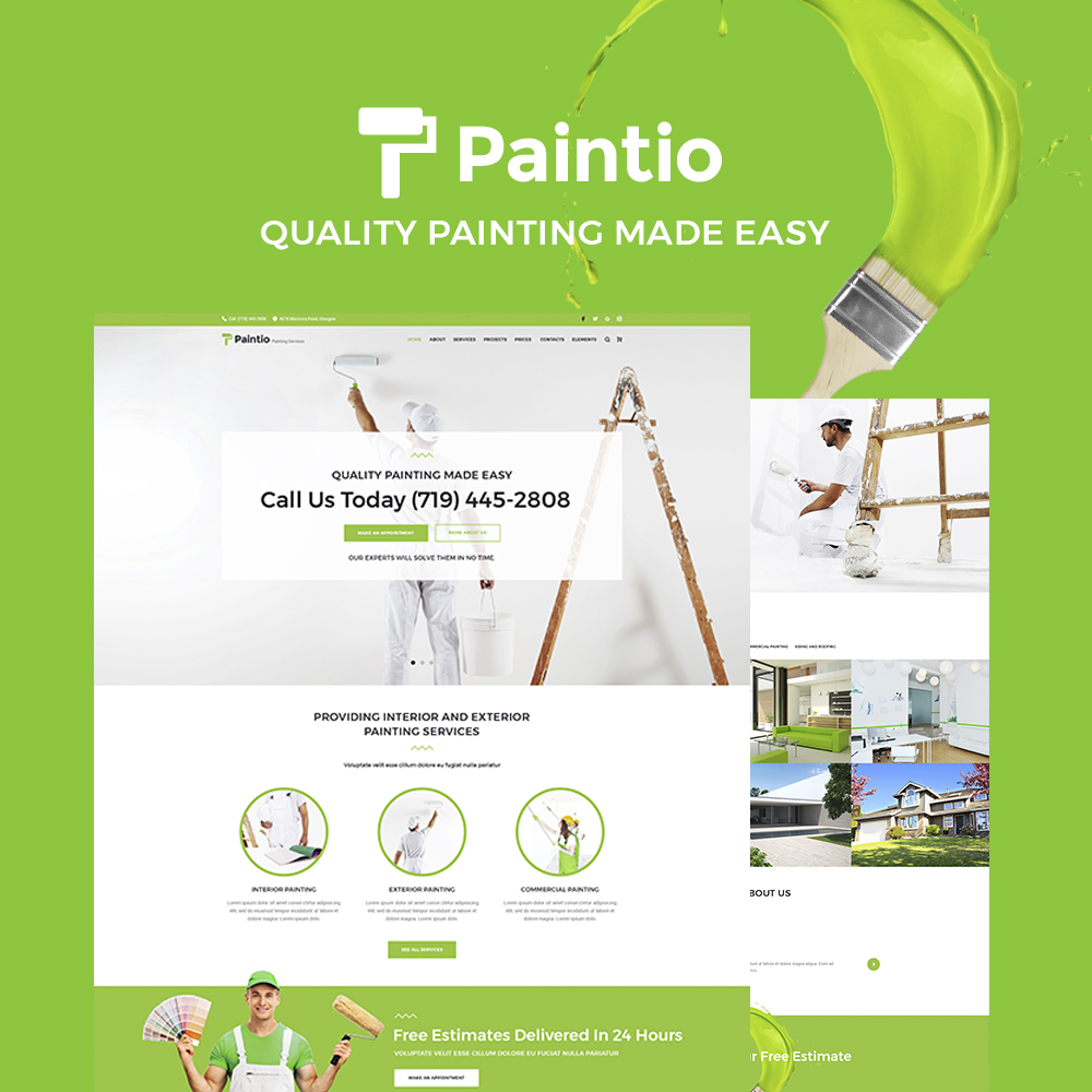 Paintio - Painting Services Tema WordPress №64793