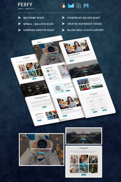 Perfy - Responsive Newsletter Email Template #64733