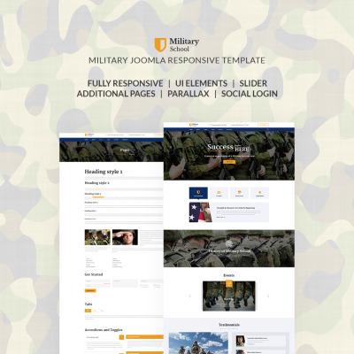Responsive Joomla Vorlage für Militärschule