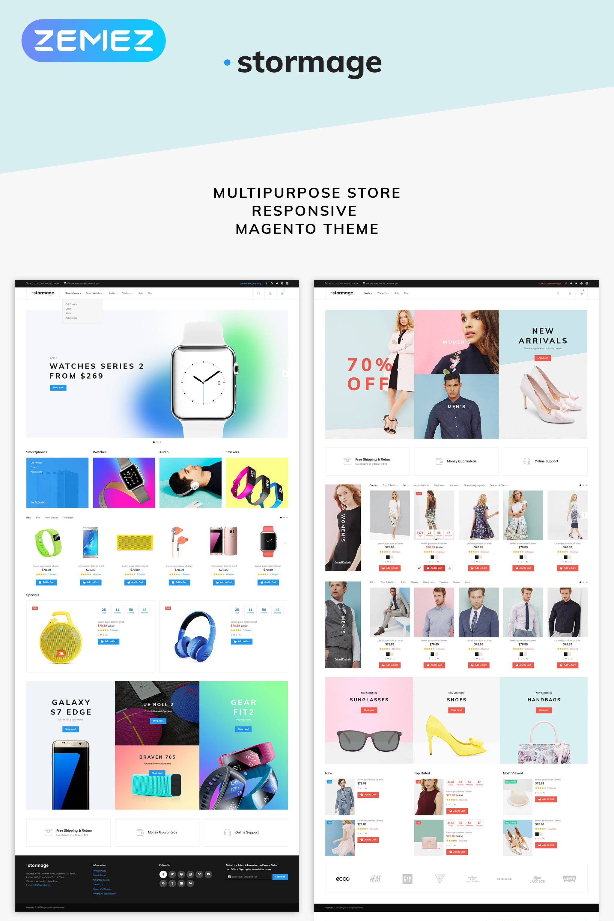 Responsivt Stormage - Fashion Clothes Magento-tema #64786