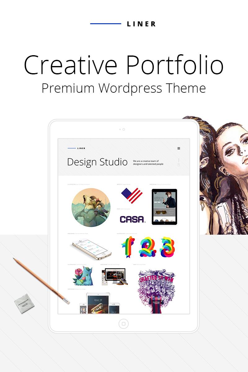 Responsywny motyw WordPress Liner - Creative Clean Portfolio #64740