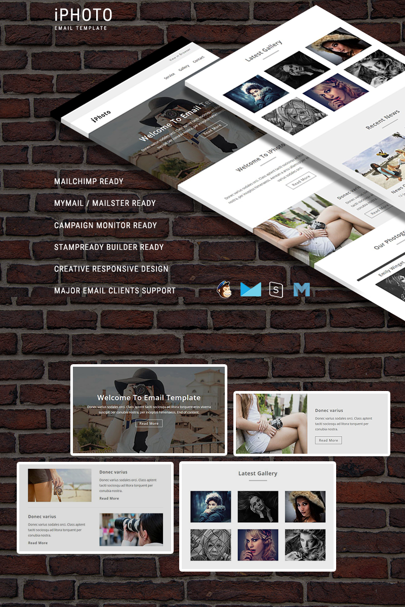 Responsywny szablon Newsletter iPhoto - Responsive Email Template #64734