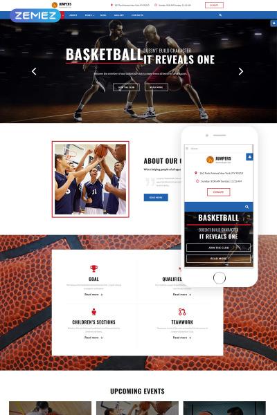 Basketball Responsive Joomla šablona