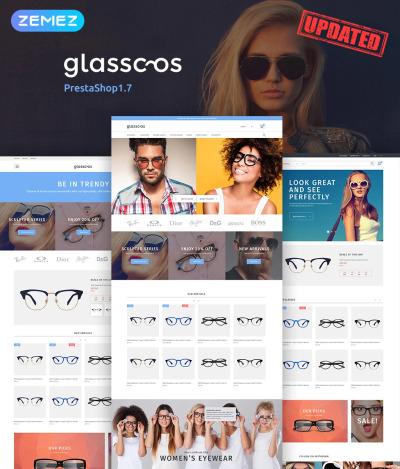 Eye Glasses Responsive PrestaShop Sablon