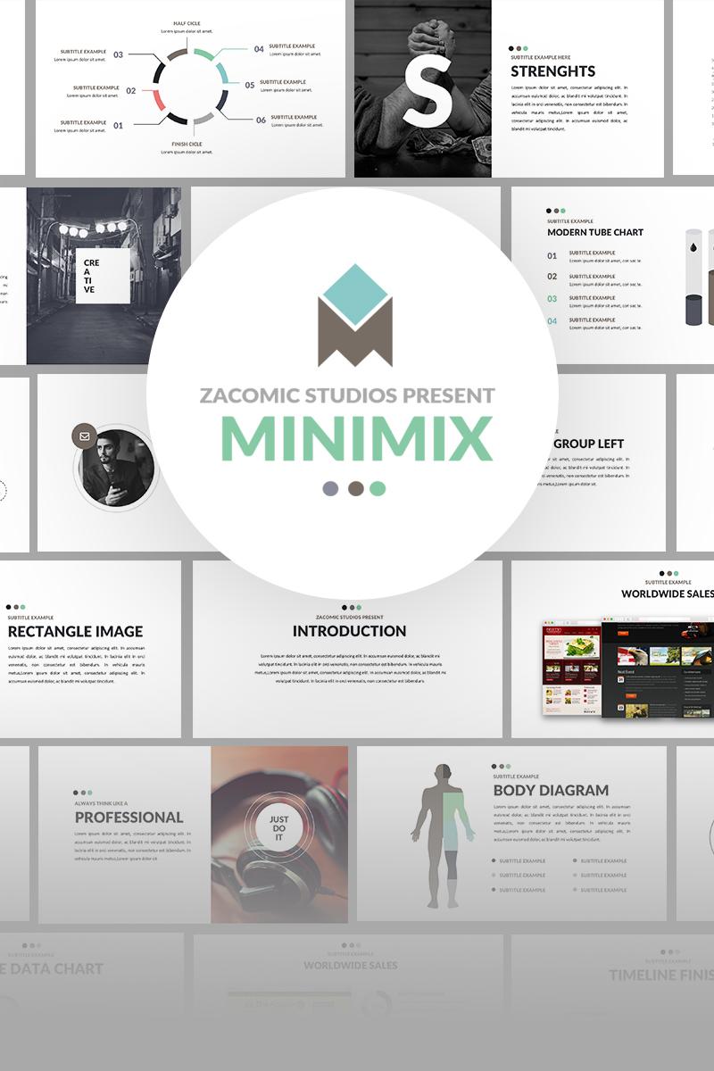 Szablon PowerPoint Minimix Powerpoint Presentation #64770 - zrzut ekranu