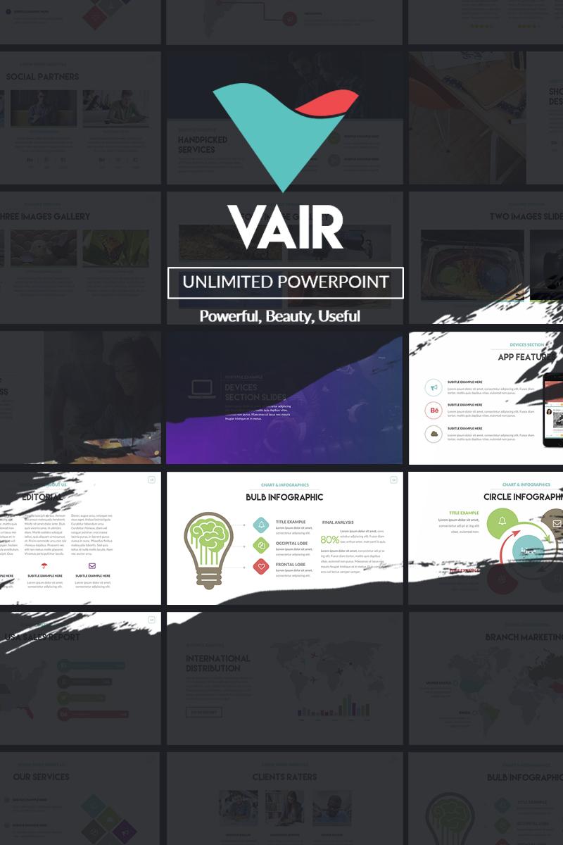 """""""Vair Powerpoint Presentation"""" 奖金PowerPoint 模板 #64739"""