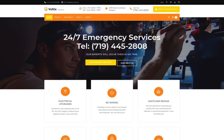 Voltix - Electrical Services WordPress Theme New Screenshots BIG