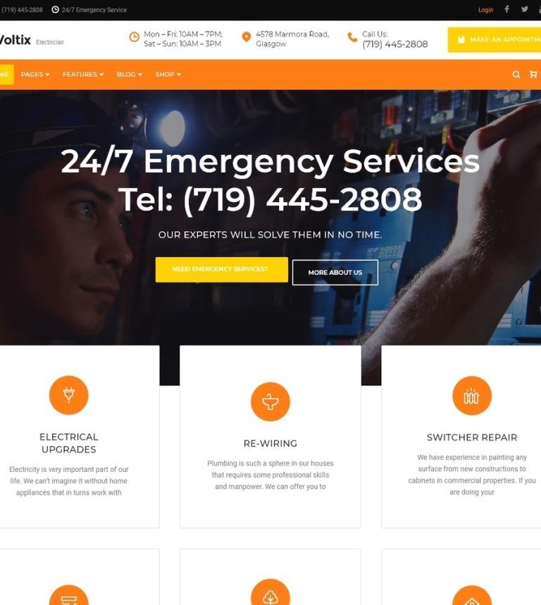 Tema de WordPress #64791 para Sitio de Remodelación de casa