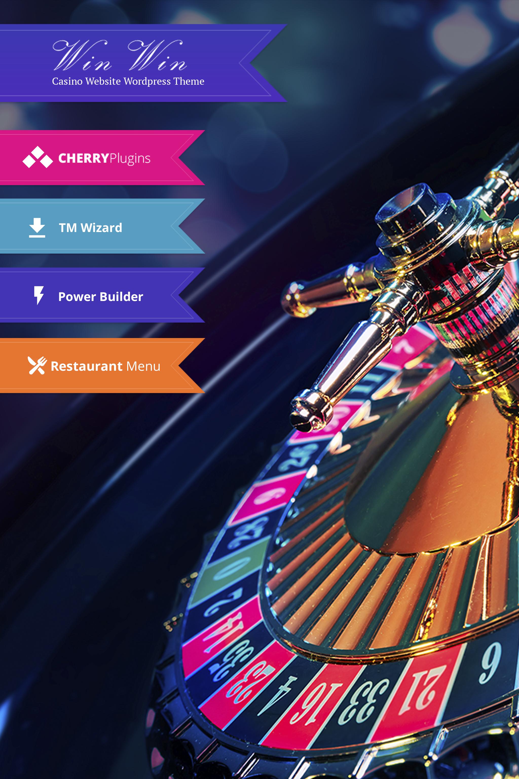 """WinWin - Casino Website WordPress Theme"" - адаптивний WordPress шаблон №64702 - скріншот"