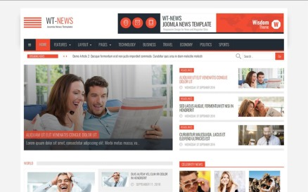 WT-News News And Magazine Joomla Template