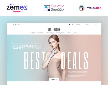 Hair Salon Ecommerce Template - StyleFactory PrestaShop Theme
