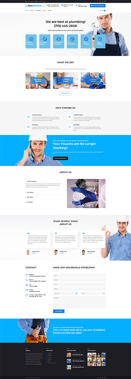 Maintenance Services WordPress Theme | Website Templates