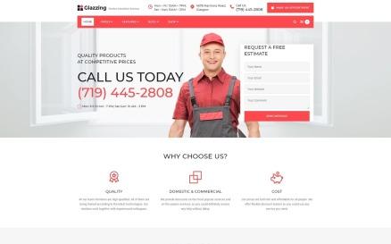 Glazzing - Window Installation Services WordPress Theme