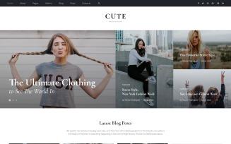 Cute - Fashion Magazine Multipage HTML5 Website Template