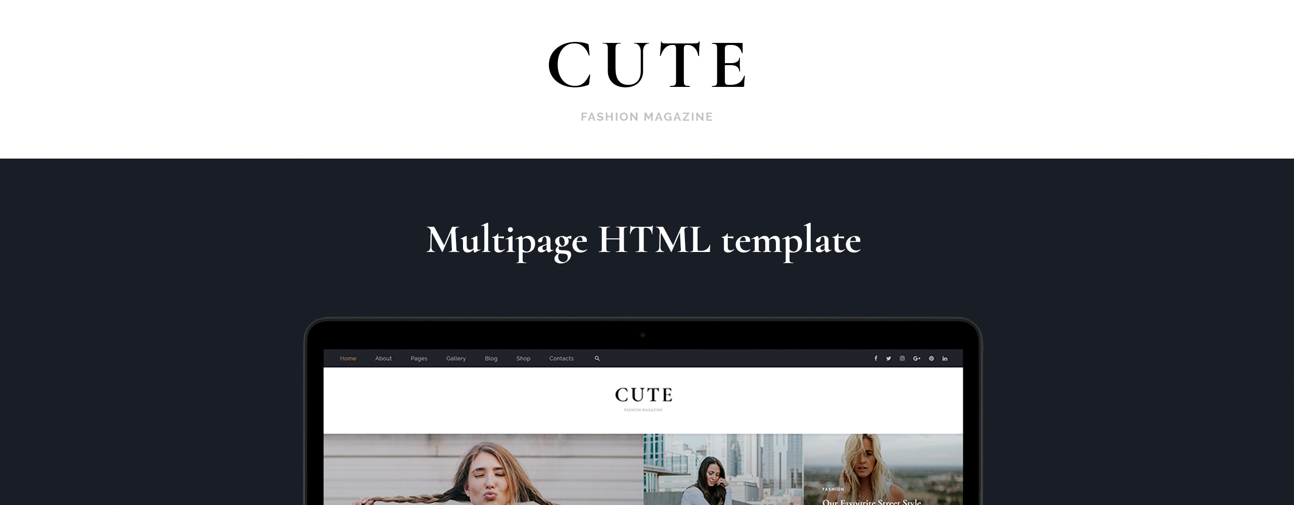 Cute - Fashion Magazine Multipage HTML5 Website Template