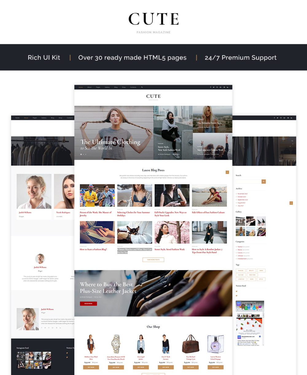 Fashion Website Template 64838 Templates