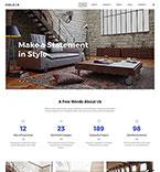 Интерьер и мебель. Шаблон сайта 64844