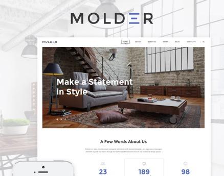 Molder - Interior Design Website Template