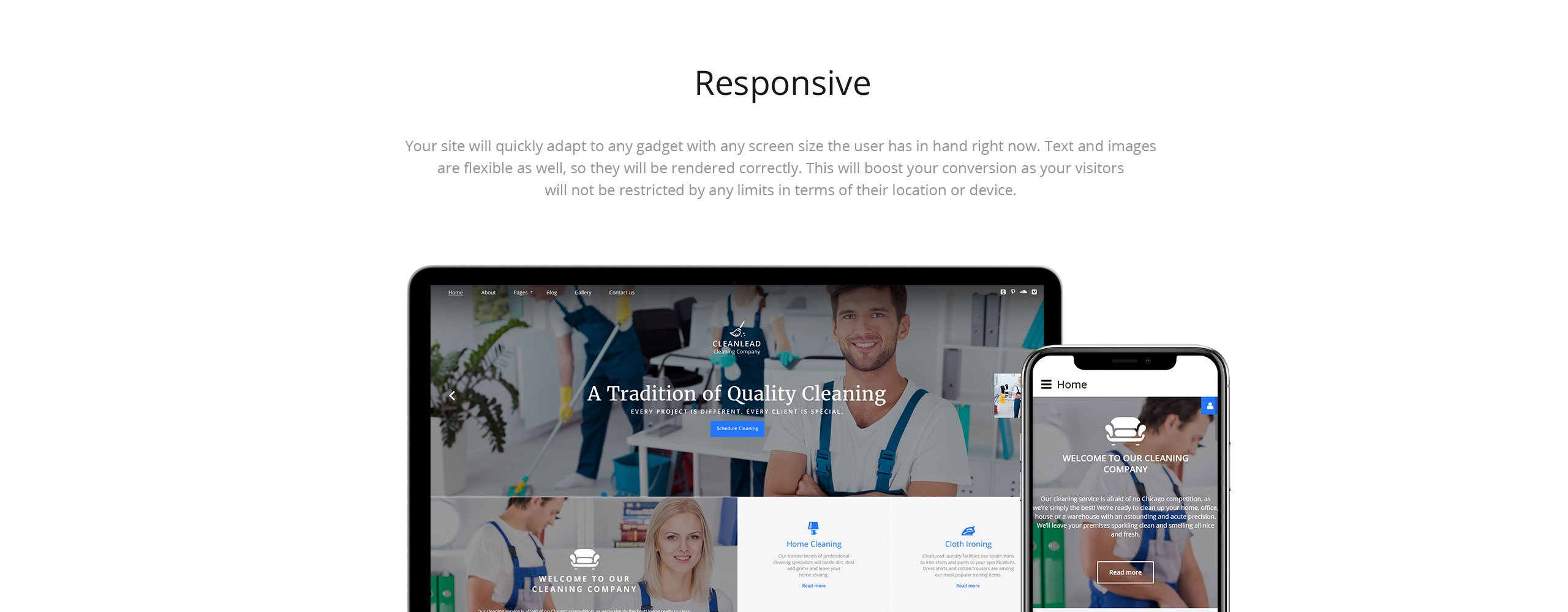 Cleanlead Cleaning  Responsive Joomla Template