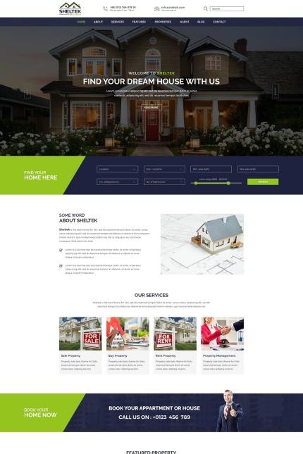 Sheltek Real Estate Responsive Website Website Templates