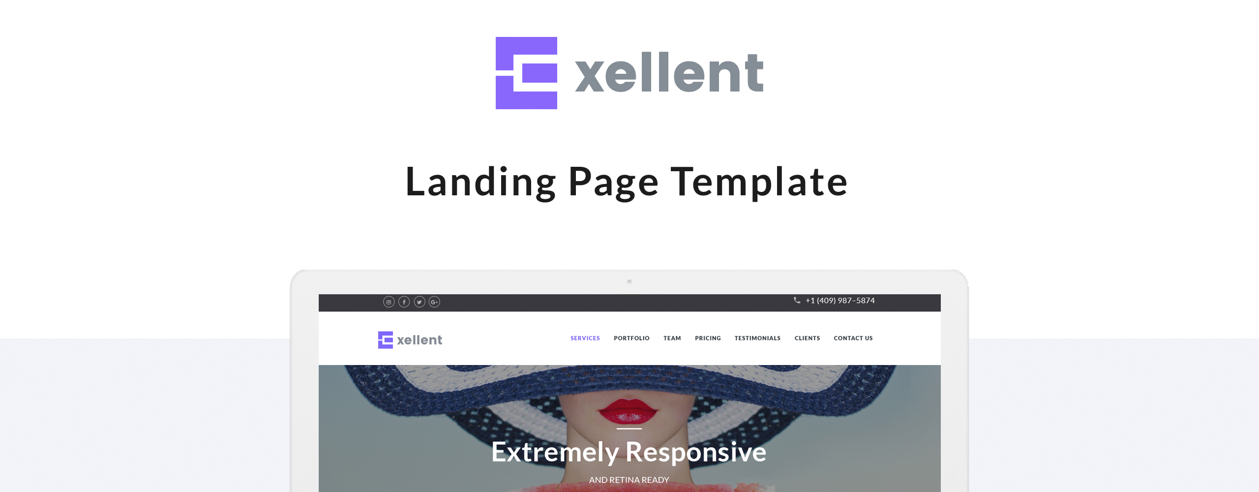 Exellent - Startup Landing Page Template