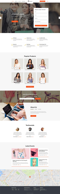 Plantilla para landing page - Categoría: Moda - versión para Desktop