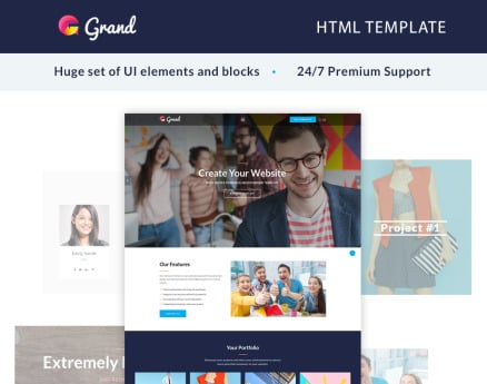 Grand - Agency Landing Page Template