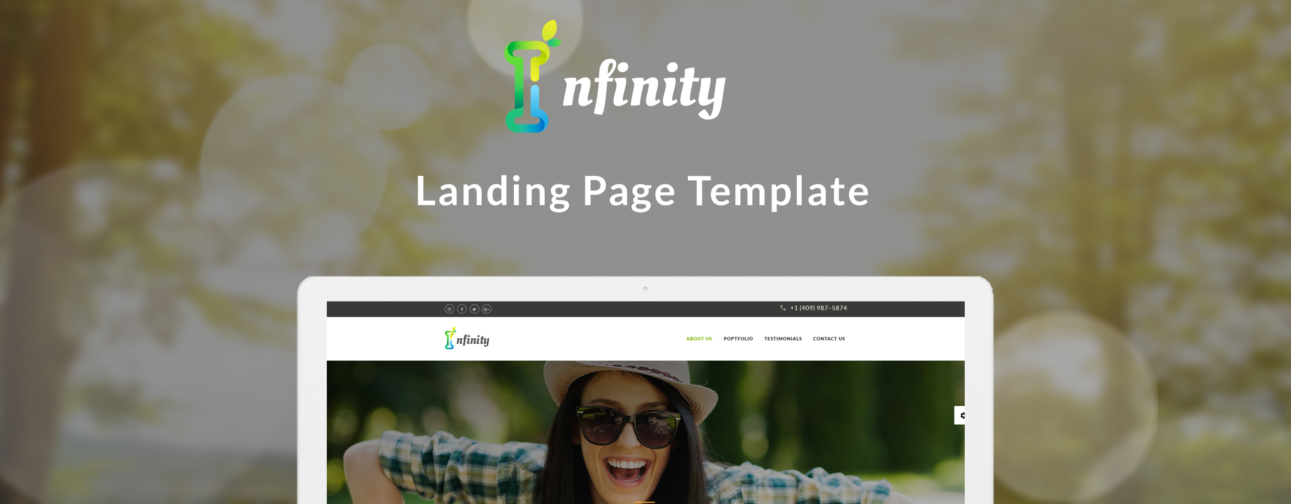 Infinity - Personal Landing Page Template