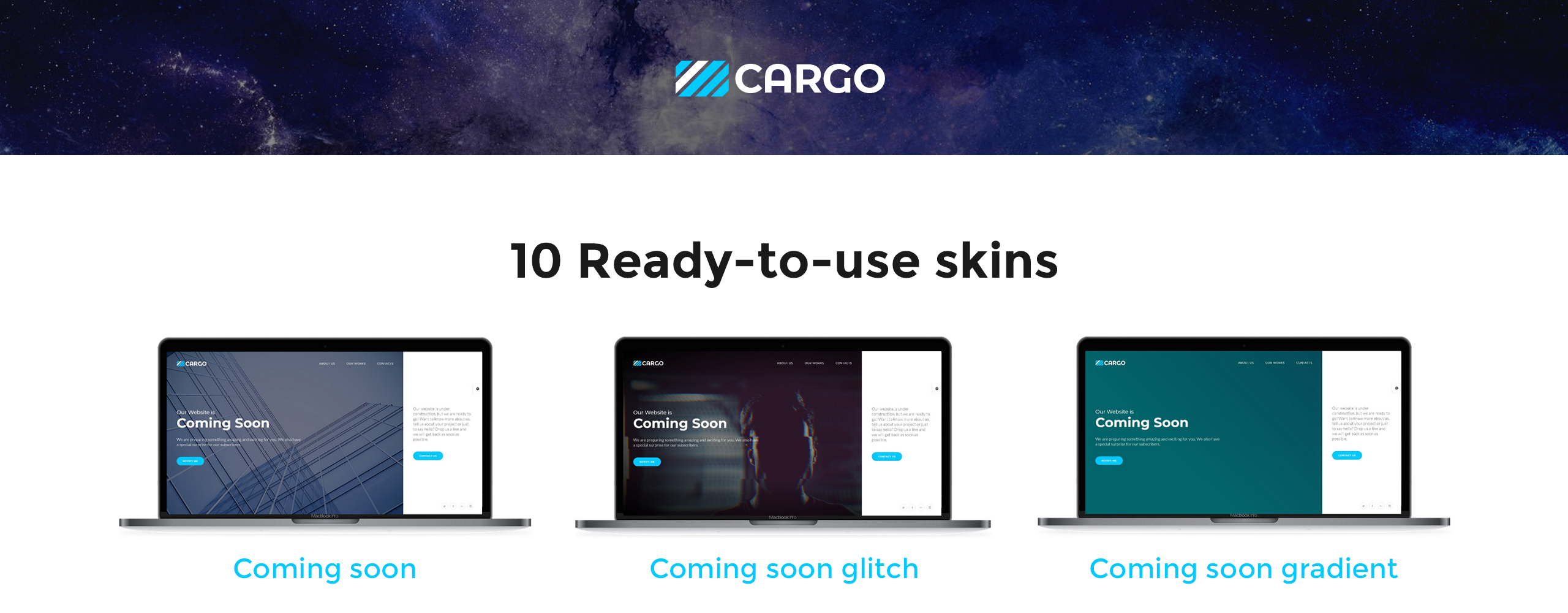 Cargo - Coming Soon HTML5 Specialty Pages