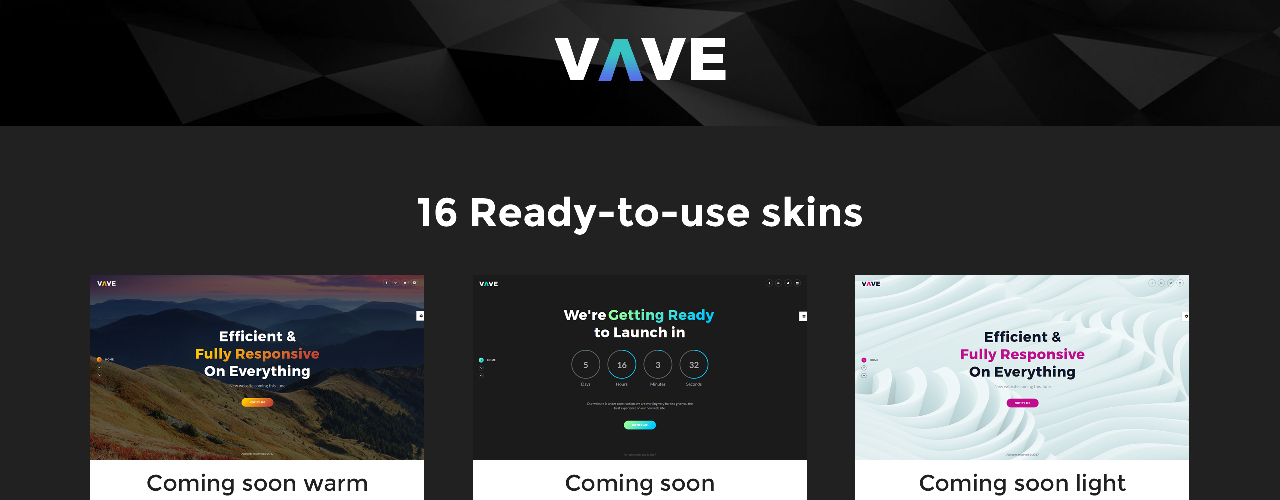 VAVE - Coming Soon HTML5 Specialty Pages