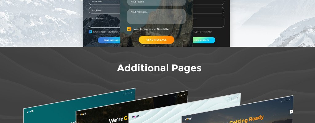 this set of vave coming soon html5 special pages will be very useful while youre setting up your website provided in sixteen different styles to suite any