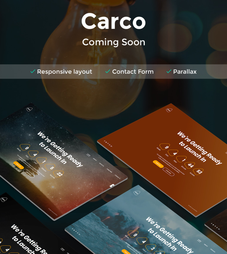 Carco - Coming Soon HTML5 Specialty Page