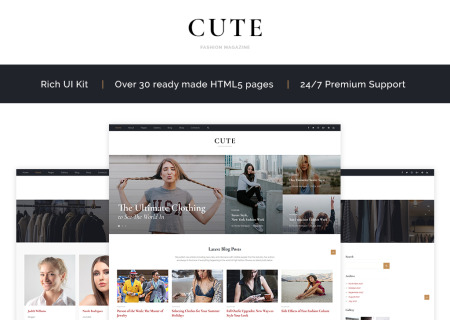 Cute - Fashion Magazine HTML5
