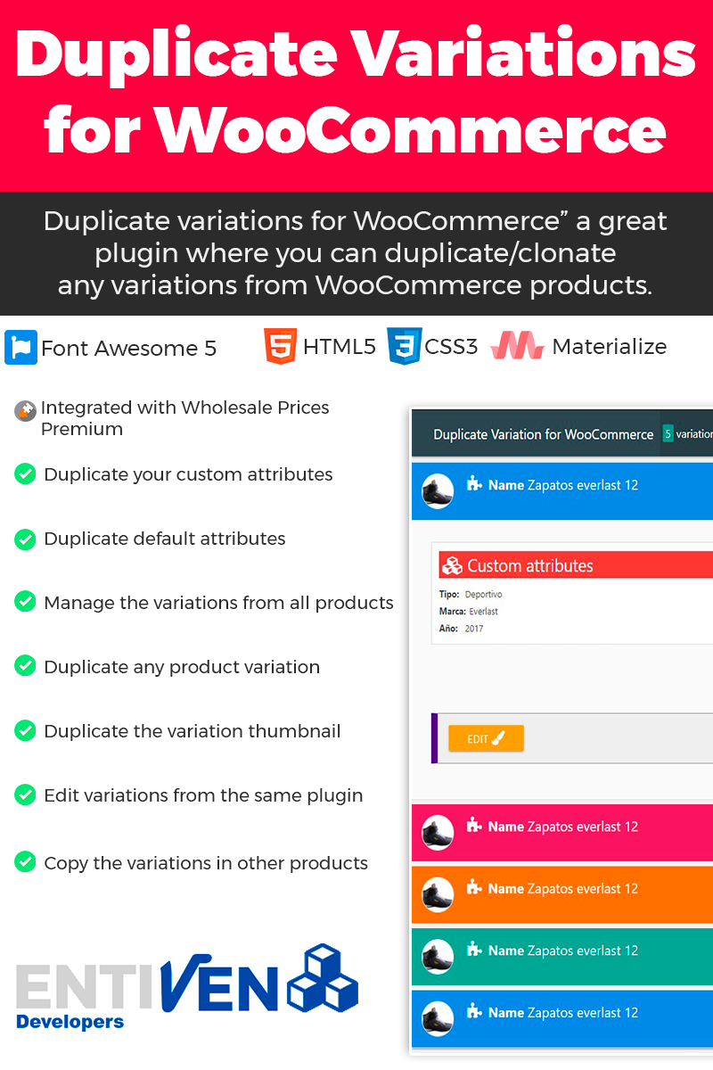 """Duplicate Variation for WooCommerce"" wordPress Plugin  #64881"